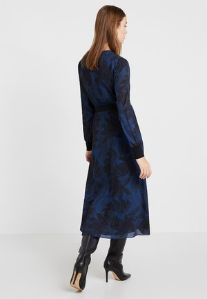 HOUDIINI BOW NECK MIDI DRESS - Robe d'été - navy