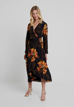 STELA WRAP DRESS - Robe d'été - black