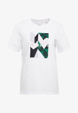 LINDIAA - T-shirt imprimé - white