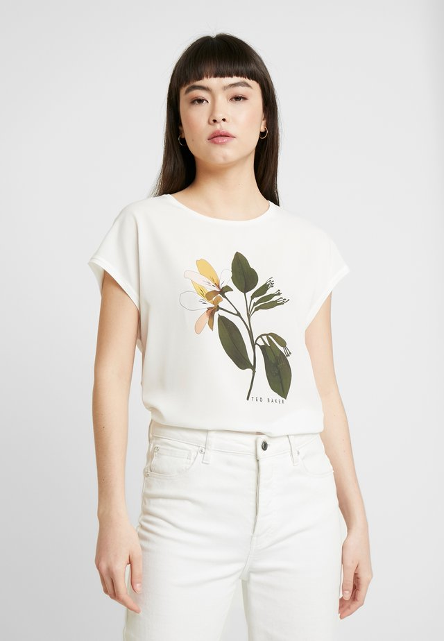 VINSANA - Print T-shirt - white