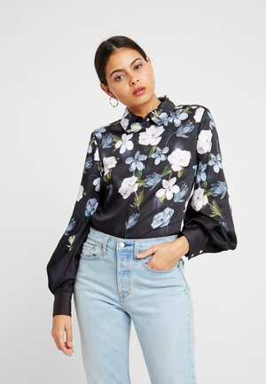 PRIYYA - Button-down blouse - black