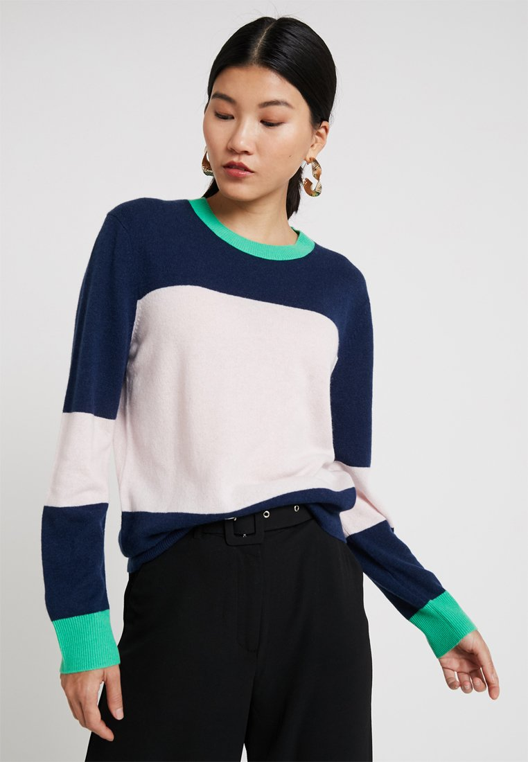 Ted Baker - BRYONNY COLOUR BLOCK - Strickpullover - nude/pink