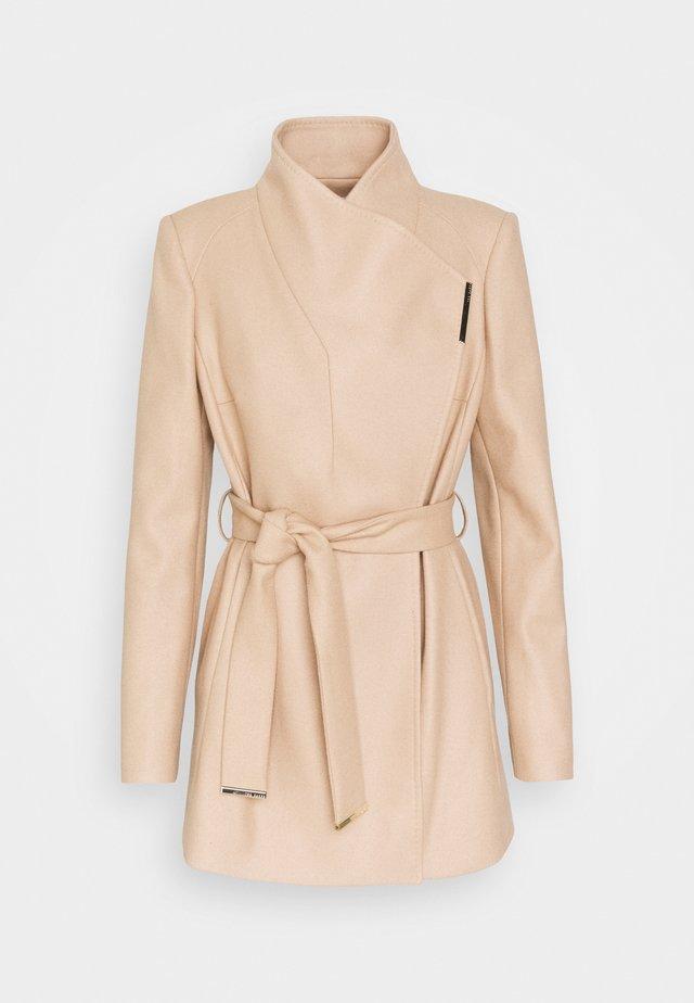 ROSESS - Płaszcz wełniany /Płaszcz klasyczny - camel
