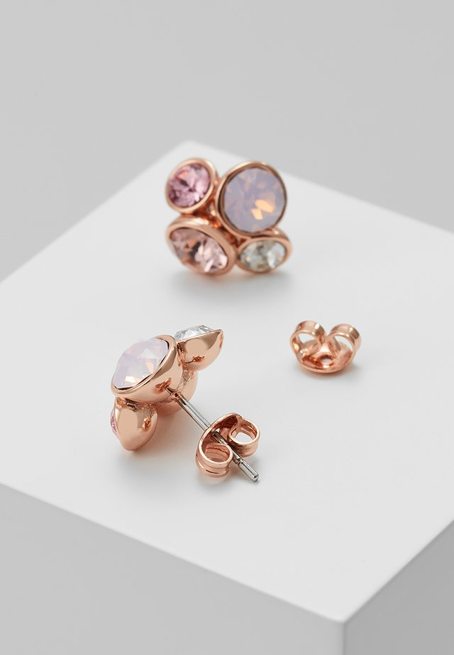 LYNDA JEWEL CLUSTER STUD EARRING - Ohrringe - rose gold-coloured/pink
