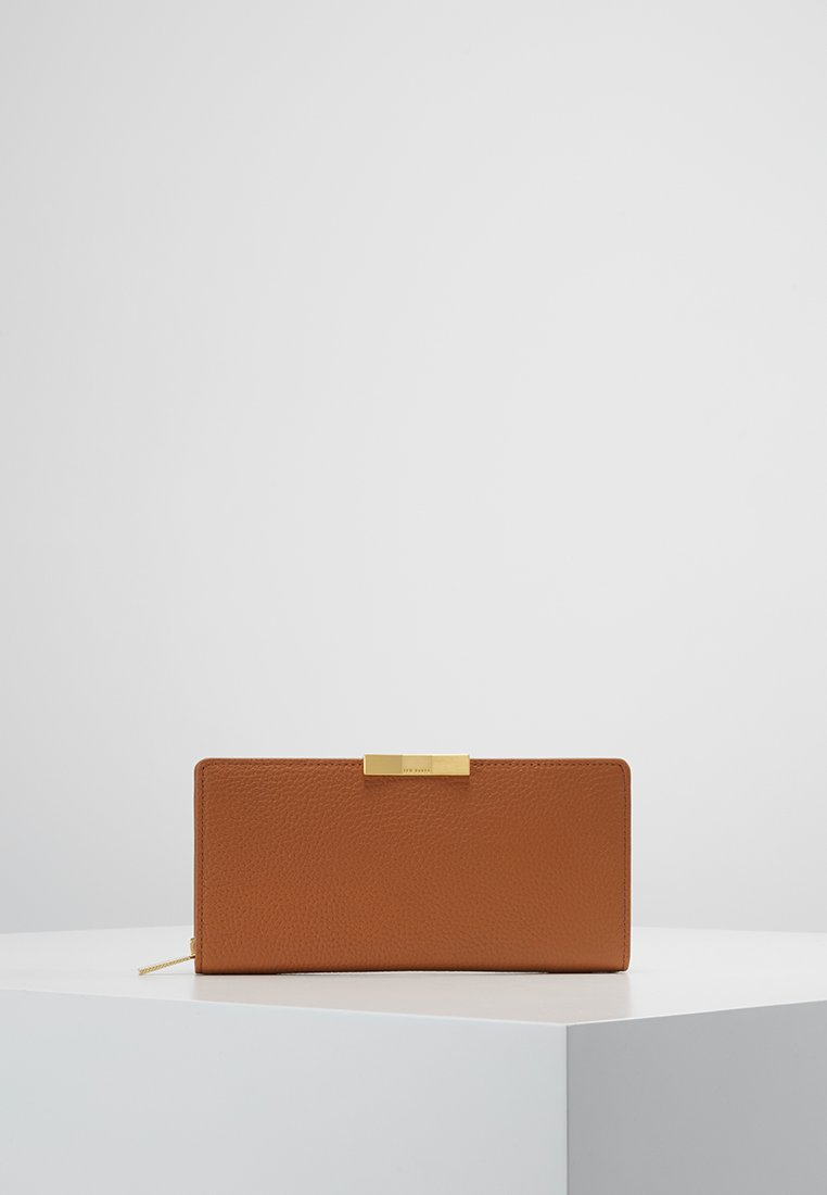 Ted Baker - EMBLYN FACETED BOW SUNKEN ZIP MATINEE - Wallet - tan