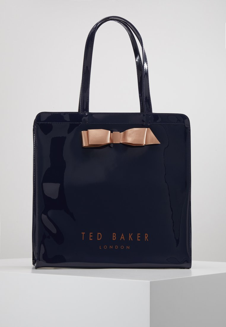 Ted Baker - ALMACON BOW DETAIL LARGE ICON BAG - Torba na zakupy - dark blue
