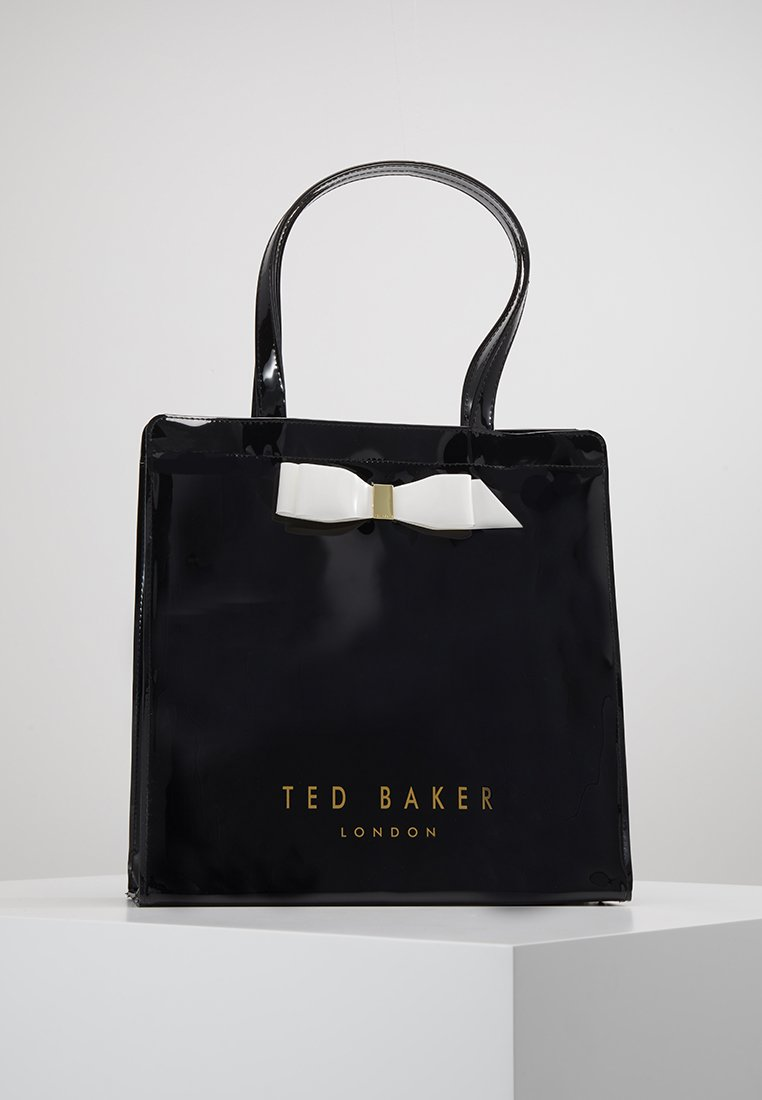 Ted Baker - ALMACON BOW DETAIL LARGE ICON BAG - Shopping bag - black