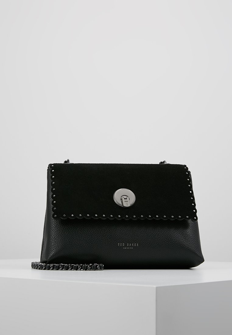 Ted Baker - SULTANE STUDDED CIRCLE LOCK XBODY BAG - Umhängetasche - black