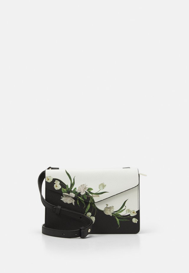 FARZANE ELDERFLOWER XBODY BAG - Axelremsväska - black