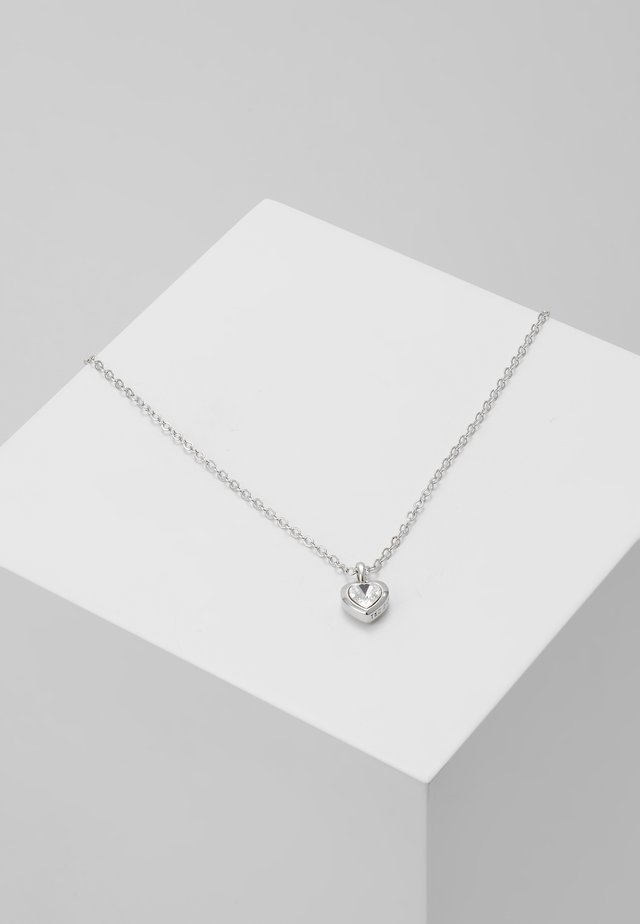 HEART PENDANT - Necklace - silver-coloured