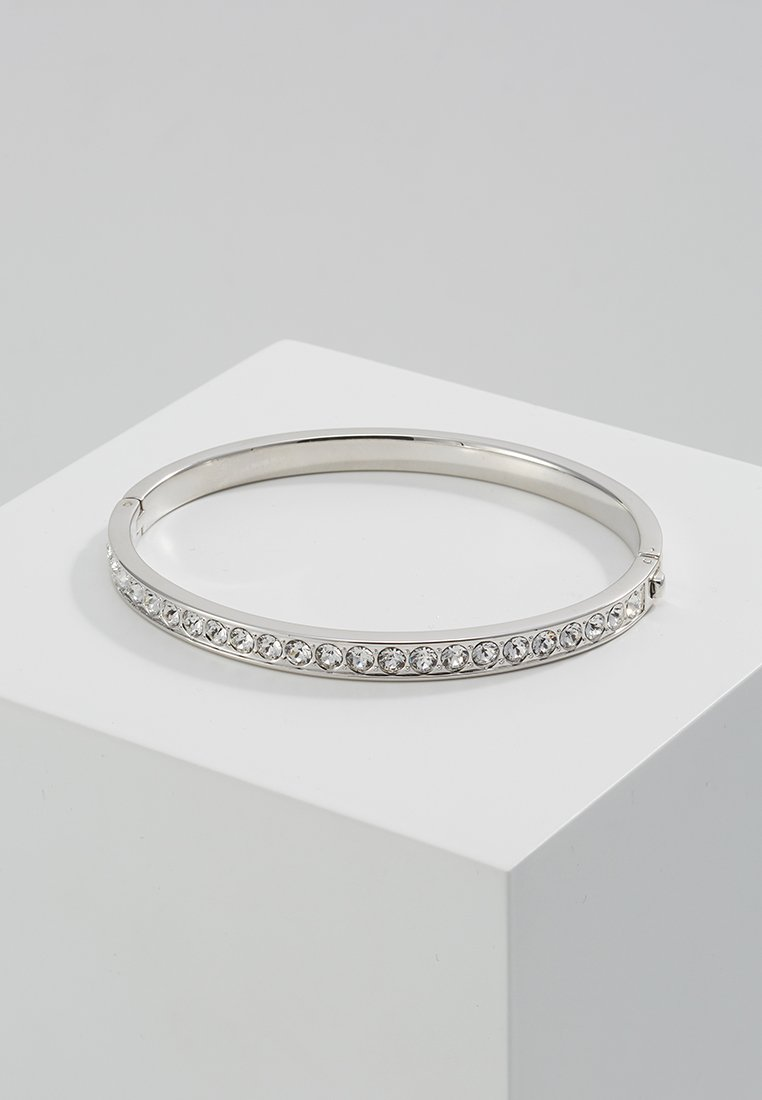 Ted Baker - CLEMARA HINGE BANGLE - Bracciale - silver-coloured/crystal