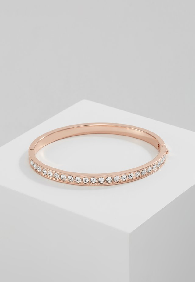 CLEMARA HINGE BANGLE - Bransoletka - rose gold-coloured/crystal
