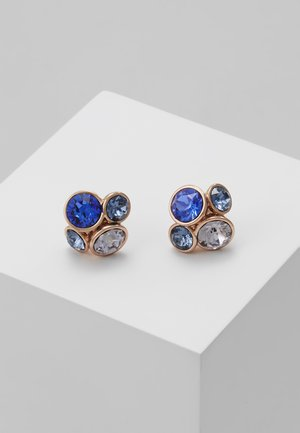 LYNDA JEWEL CLUSTER STUD EARRING - Øreringe - rose gold-coloured/multi/blue
