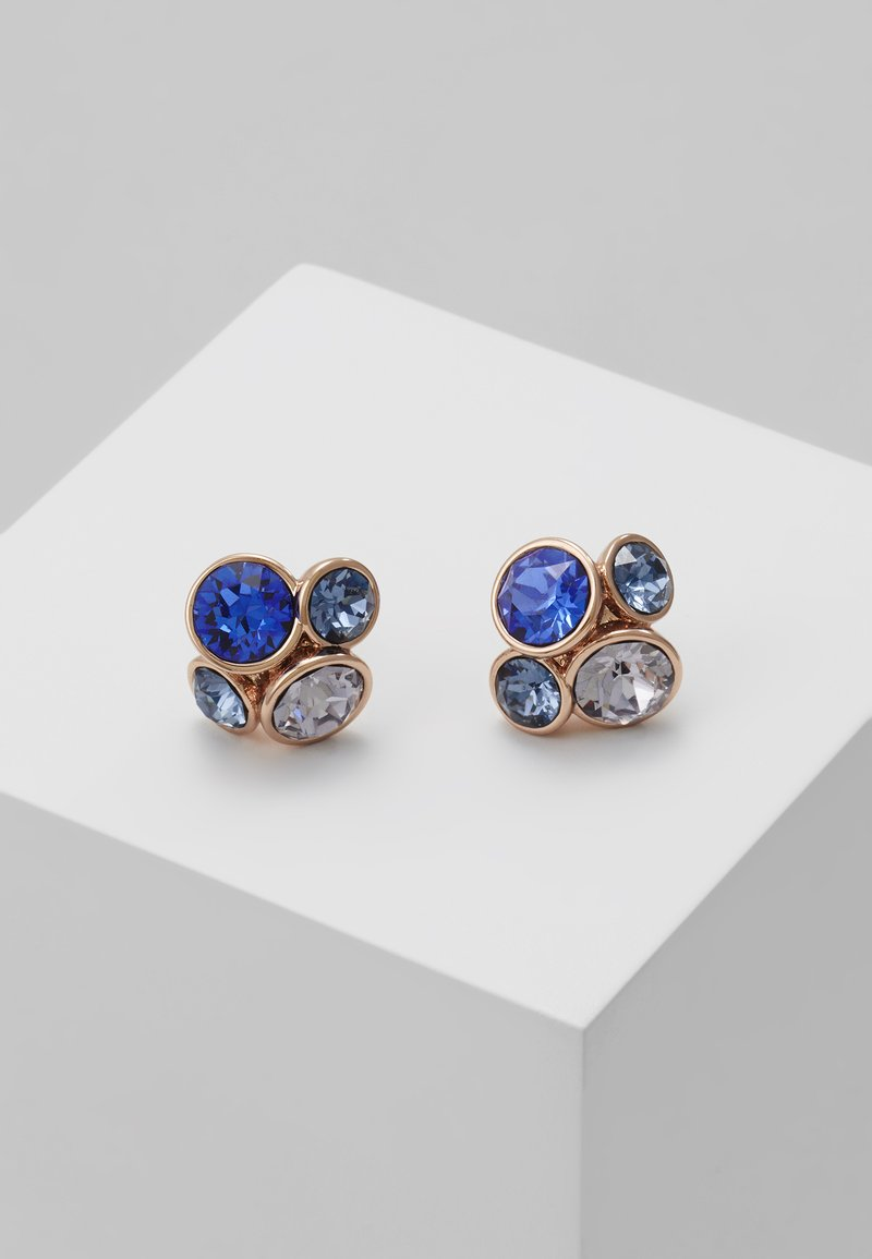 Ted Baker - LYNDA JEWEL CLUSTER STUD EARRING - Boucles d'oreilles - rose gold-coloured/multi/blue