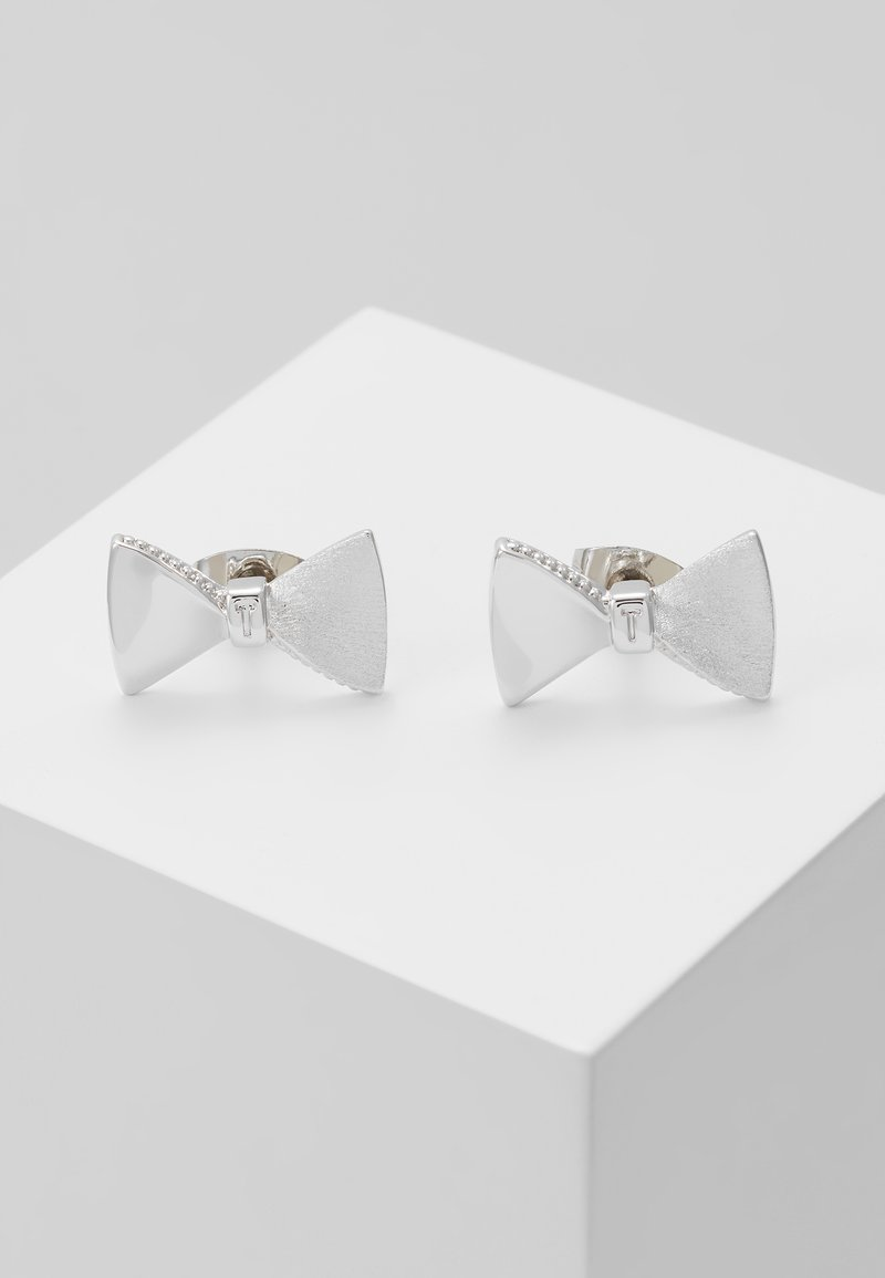 Ted Baker - TUX BOW STUD EARRING - Pendientes - silver-coloured