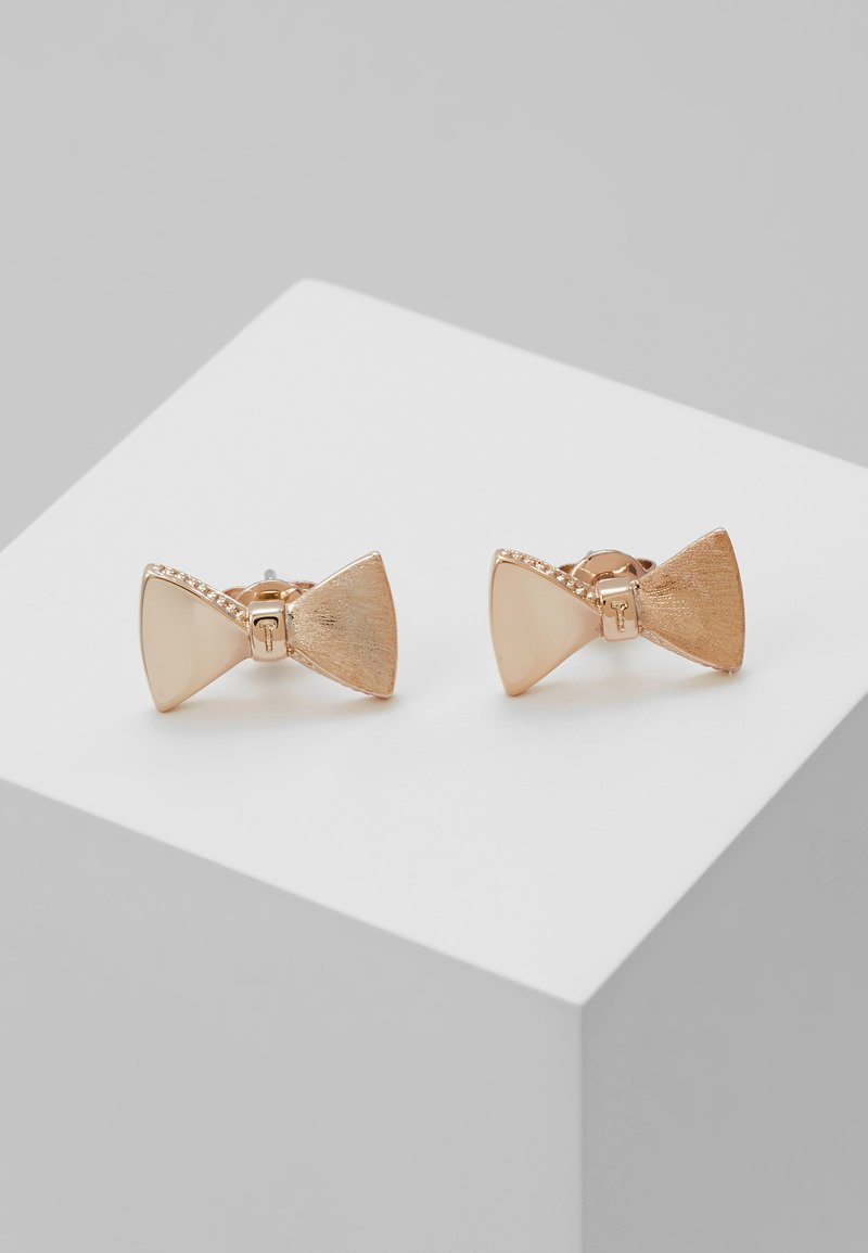 Ted Baker - TUX BOW STUD EARRING - Náušnice - rose gold-coloured