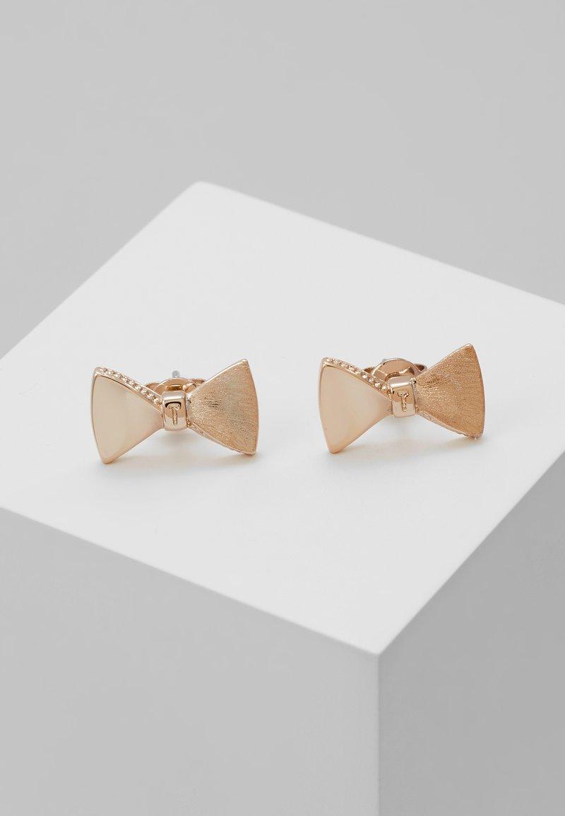Ted Baker - TUX BOW STUD EARRING - Ohrringe - rose gold-coloured