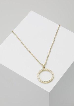 LINZZI LUUNAR PAVÉ CIRCLE PENDANT - Halskette - pale gold-coloured