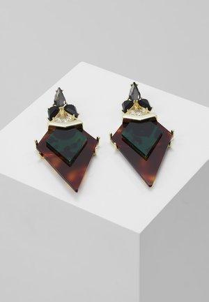 MIRLENA ARROW DROP EARRING - Earrings - pale gold-coloured/dark tortoise/green