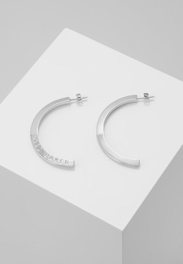 ICLIPSA  LOGO HALF HOOP EARRING - Oorbellen - silver-coloured
