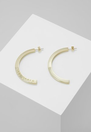 ICLIPSA  LOGO HALF HOOP EARRING - Earrings - pale gold-coloured