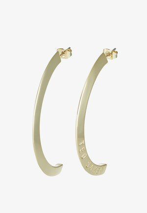 ICLIPSA  LOGO HALF HOOP EARRING - Ohrringe - pale gold-coloured
