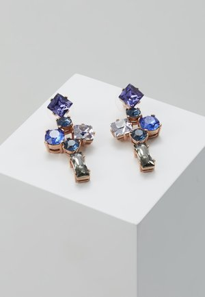 SATARA STARLET STATEMENT STONE EARRING - Pendientes - rose gold-coloured/blue/multi