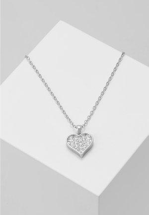 HEYNA HIDDEN HEART PENDANT - Collier - silver-coloured/crystal