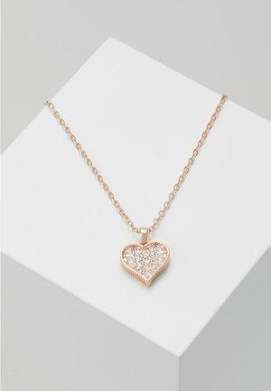 HEYNA HIDDEN HEART PENDANT - Halskæder - rose gold-coloured/crystal
