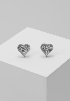 HANILA HIDDEN HEART STUD EARRING - Boucles d'oreilles - silver-coloured