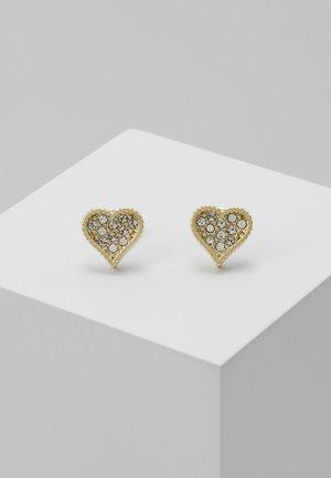 HANILA HIDDEN HEART STUD EARRING - Örhänge - pale gold-coloured