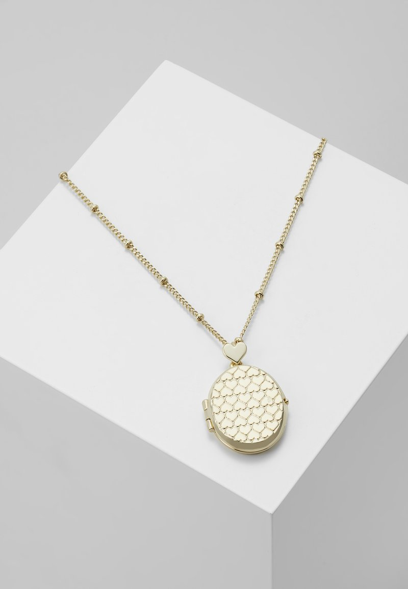 Ted Baker - HARNIMA HEART TO HEART LOCKET - Necklace - pale gold-coloured