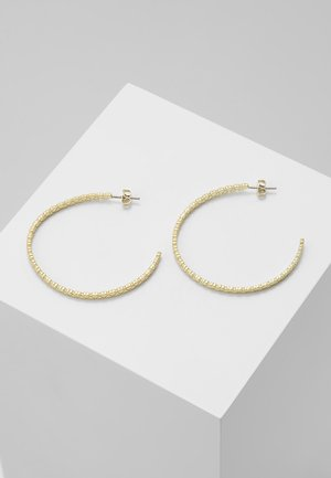 HARENNA HEART TO HEART LARGE HOOP EARRING - Pendientes - pale gold-coloured