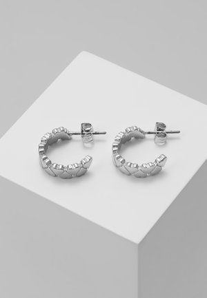 HARLEN HEART TO HEART SMALL HOOP EARRING - Pendientes - silver-coloured