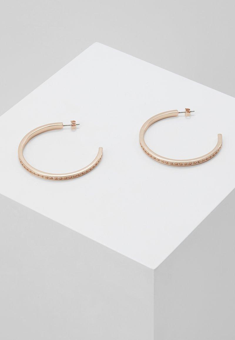 Ted Baker - SENRA LARGE HOOP EARRING - Pendientes - rose gold-coloured