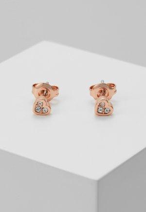 NEENA NANO HEART STUD EARRING - Earrings - rose gold-coloured