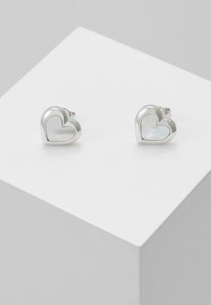 HEILA HEART STUD EARRING - Boucles d'oreilles - silver-coloured