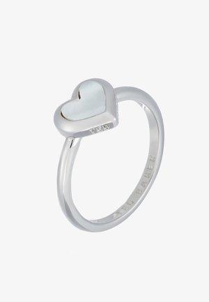 HANLET HEART RING - Bague - silver-coloured