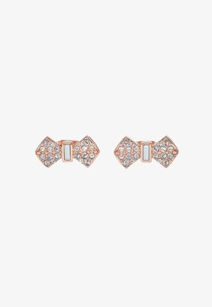 SERSI SOLITAIRE PAVE BOW EARRING - Orecchini - rose gold-coloured