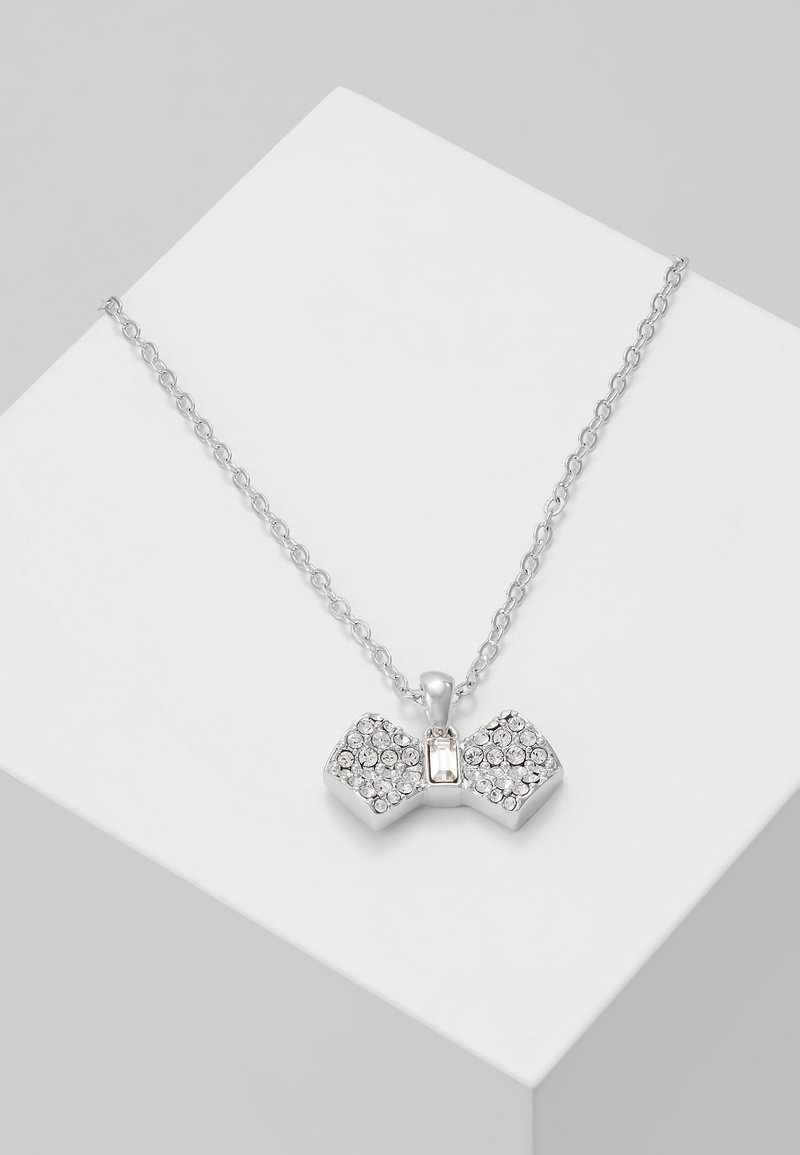 Ted Baker - SANRA SOLITAIRE PAVE BOW PENDANT - Collier - silver-coloured