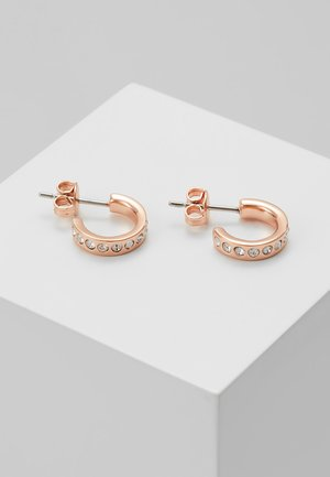 SEENI MINI HOOP HUGGIE EARRING - Kolczyki - rose gold-coloured