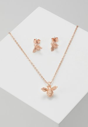 BEELIA BEE GIFT SET - Earrings - brushed rose gold-coloured