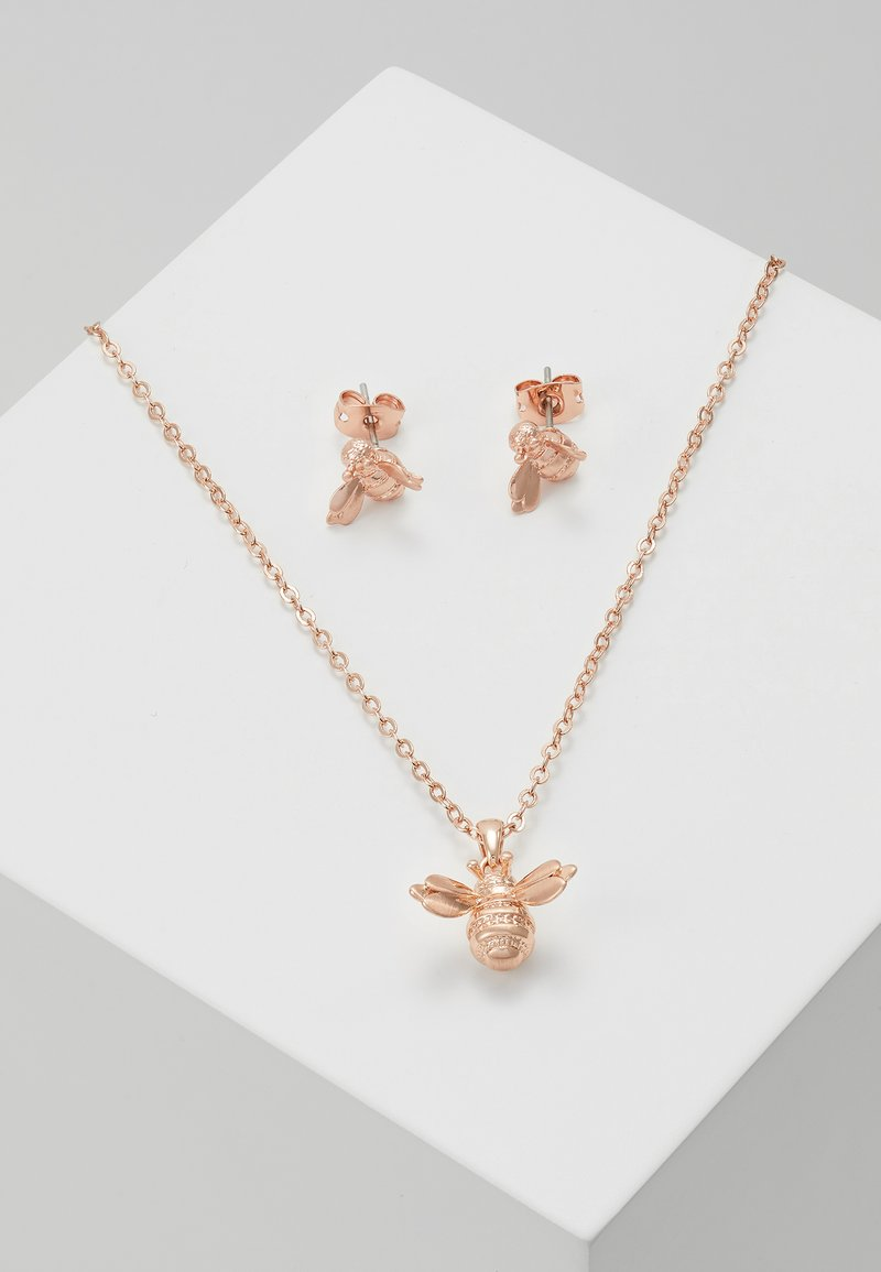 Ted Baker - BEELIA BEE GIFT SET - Earrings - brushed rose gold-coloured