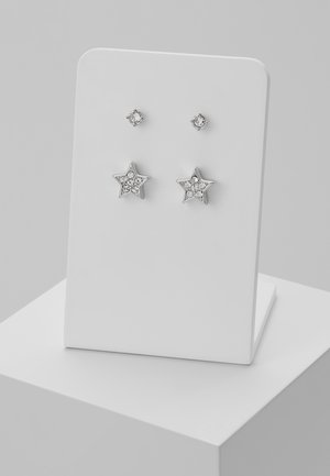 NAIYA NANO STUD PAVE STAR EARRING GIFT SET - Collar - silver-coloured