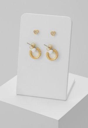 NELSA NANO HEART HUGGIE EARRING GIFT SET - Pendientes - gold-coloured