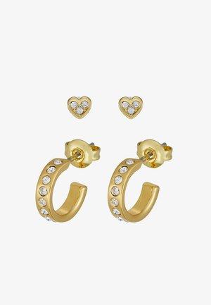 NELSA NANO HEART HUGGIE EARRING GIFT SET - Orecchini - gold-coloured