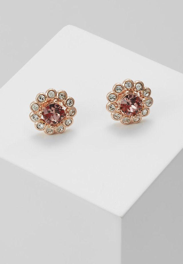 DAISY CRYSTAL STUD - Earrings - rose gold/pink multi