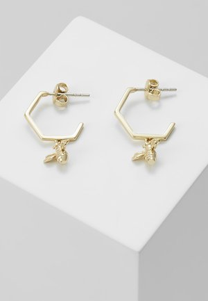 BEDZA BUMBLE BEE HOOP EARRING - Earrings - light gold-coloured