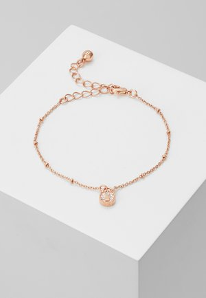 MINI PAVE PADLOCK CHARM BRACELET - Náramek - rose gold-coloured