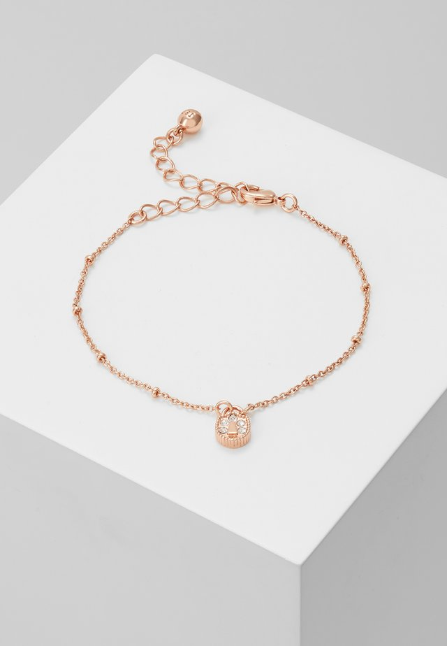 MINI PAVE PADLOCK CHARM BRACELET - Bracelet - rose gold-coloured